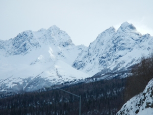 Chugach Mountains between Anchorage and Wasilla.