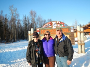 Mom, Me, Dougat Iditarod Headquarters