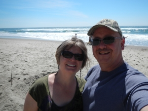 Doug and I enjoying the beach!